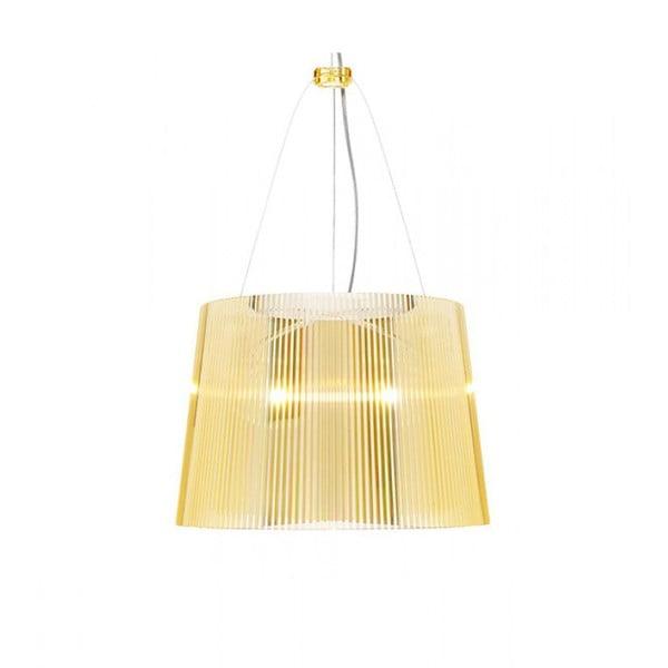 Žlté transparentné stropné svietidlo Kartell Gé