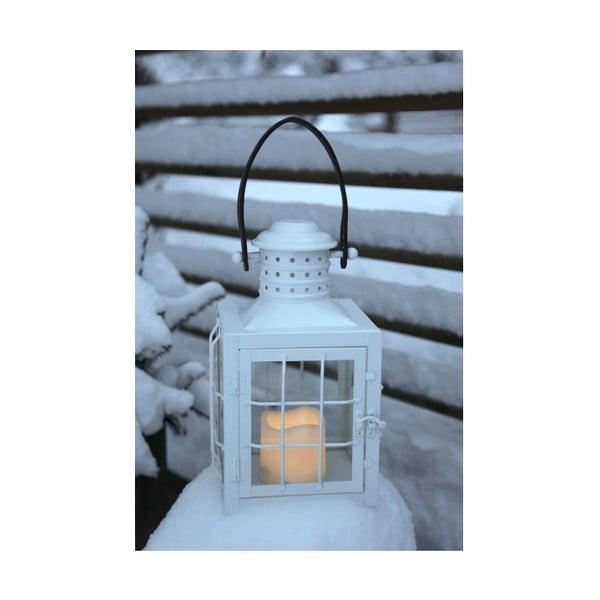 Biely LED lampáš s uchom Best Season