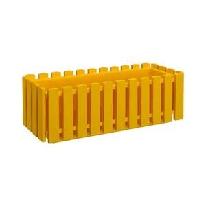 Žltý samozavlažovací črepník Gardenico Fency Smart System, dĺžka 75 cm