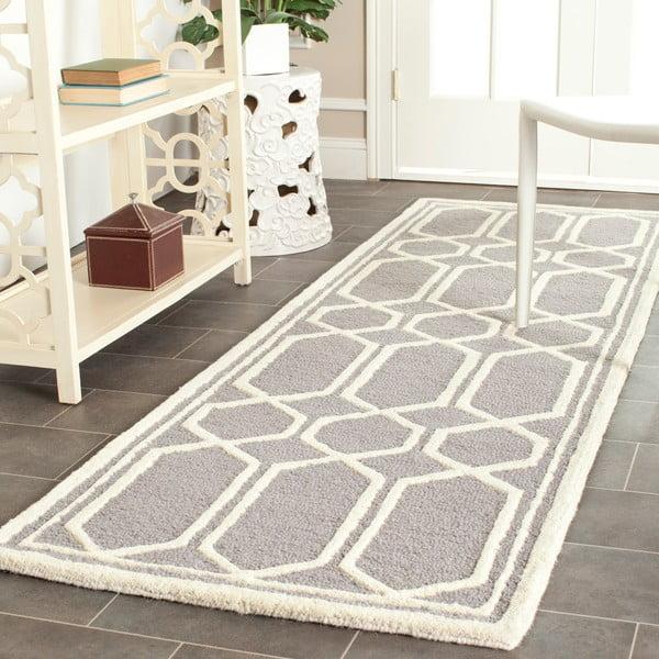 Vlnený koberec Safavieh Olivia, 121x182 cm, sivý