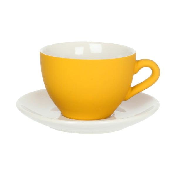 Žltá šálka s tanierikom Present Time Silk