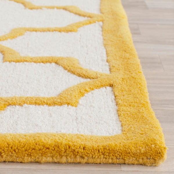 Vlnený koberec Everly 91x152 cm, oranžový