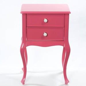 Odkladací stolík Bourbon Pink, 46x33x70 cm