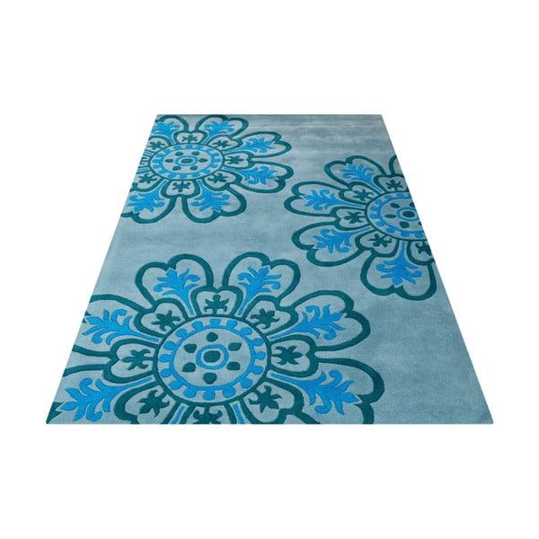 Koberec Floral Light Blue, 153x244 cm