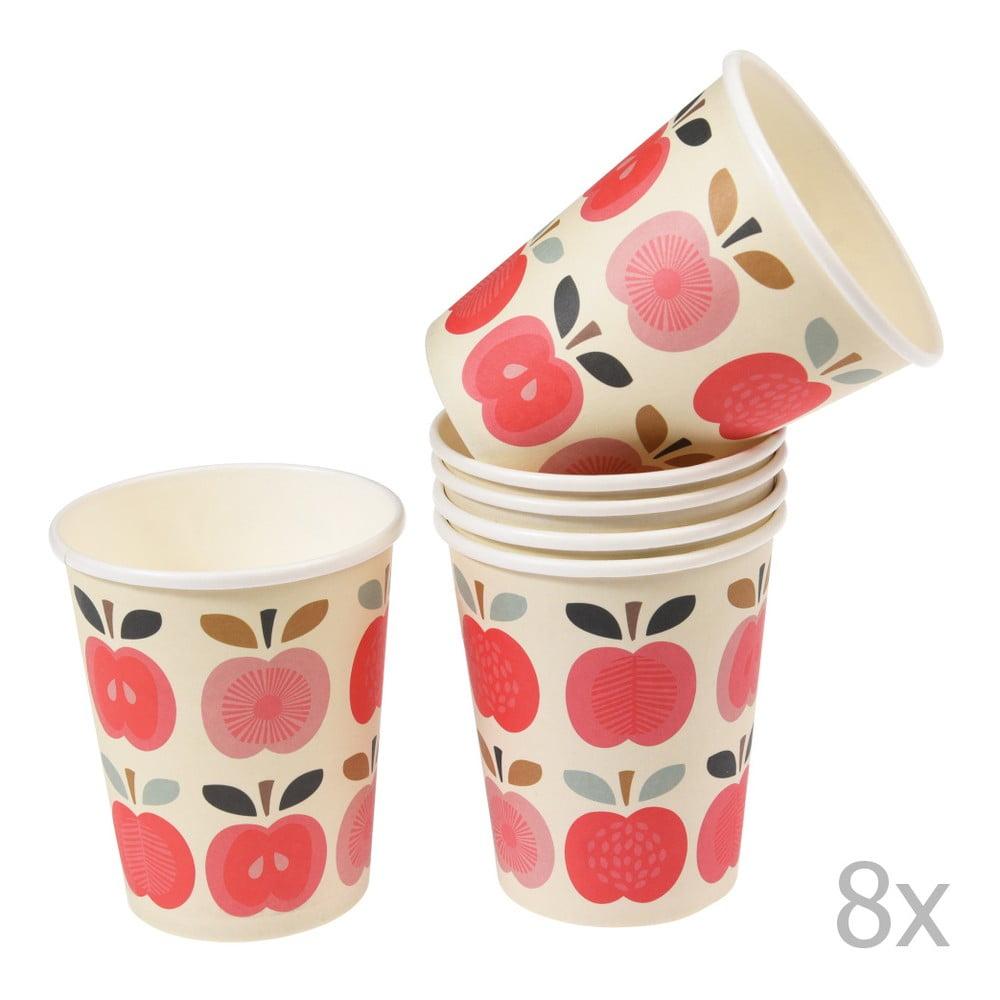 Sada 8 papierových pohárikov Rex London Vintage Apple, 250 ml