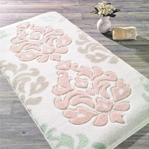 Ružová predložka do kúpeľne Confetti Bathmats Damask, 80×140cm