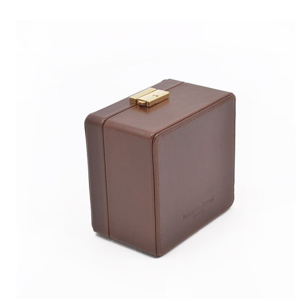 Kožený box na hodinky Ferruccio Laconi Coffee