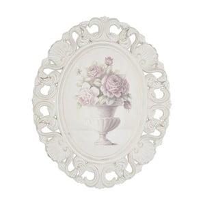 Drevený obraz v ráme Pink Roses, 44x54 cm