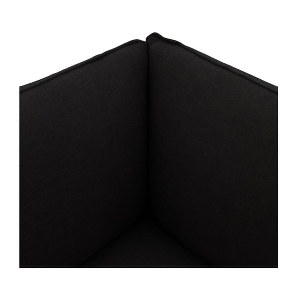 Tmavohnedá trojmiestna pohovka s podnožkou VIVONITA Cube