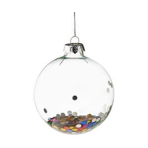 Vianočná závesná ozdoba zo skla Butlers Konfety, ⌀ 8 cm