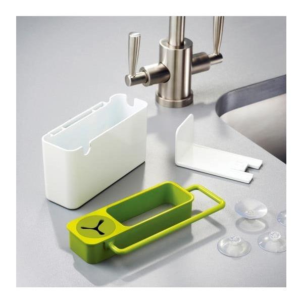 Bielo-zelený stojan na umývacie prostriedky Joseph Joseph Sink Aid