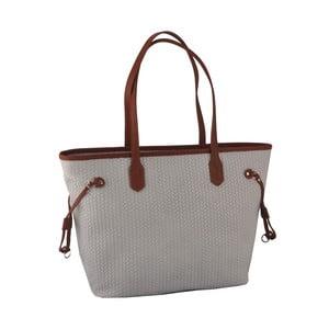 Sivá kožená kabelka Florence Merga