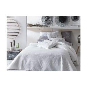 Biely pléd cez posteľ Slowdeco Buenos, 170×210 cm