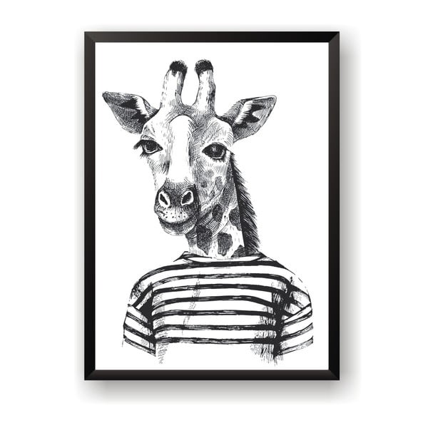 Plagát Nord & Co Hipster Giraffe, 50 x 70 cm