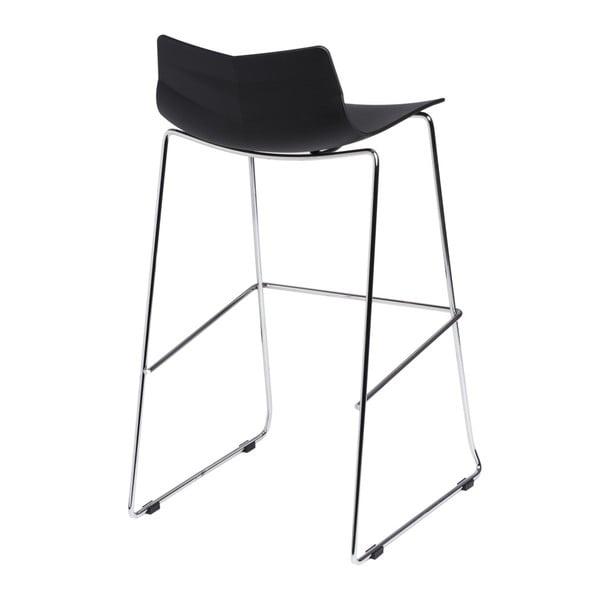 Barová stolička D2 Leaf, čierna