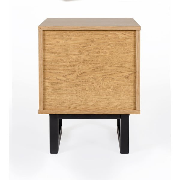 Nočný stolík z brezového dreva Woodman Mora Herringbone Print