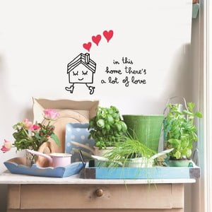 Samolepka In This Home, 41x57 cm
