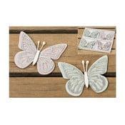 Sada 8 dekorácií Boltze Butterfly