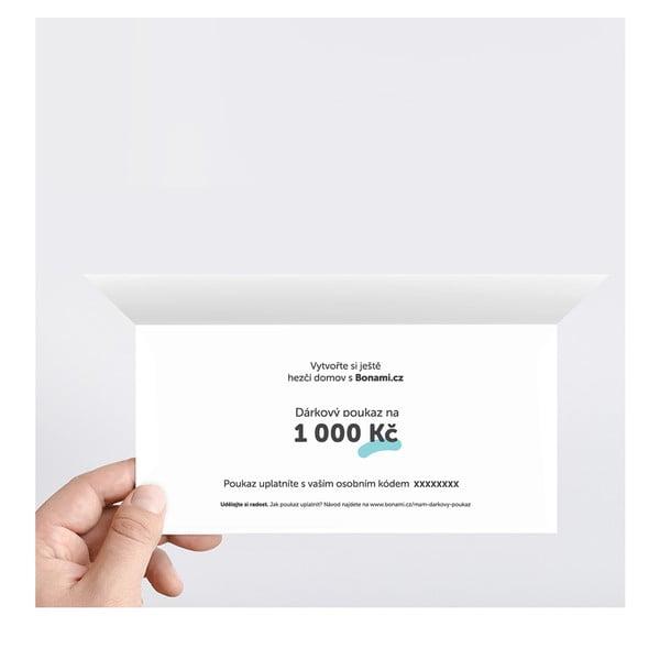 Tlačený darčekový poukaz na 1000 Kč