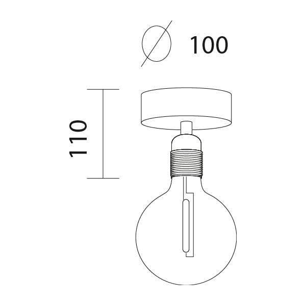 Biele stropné svietidlo Bulb Attack Uno Basic