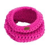 Ružová ručne háčkovaná kruhová šál DOKE Peony