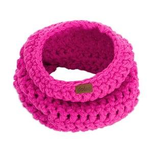 Ružový ručne háčkovaný kruhový šál DOKE Peony