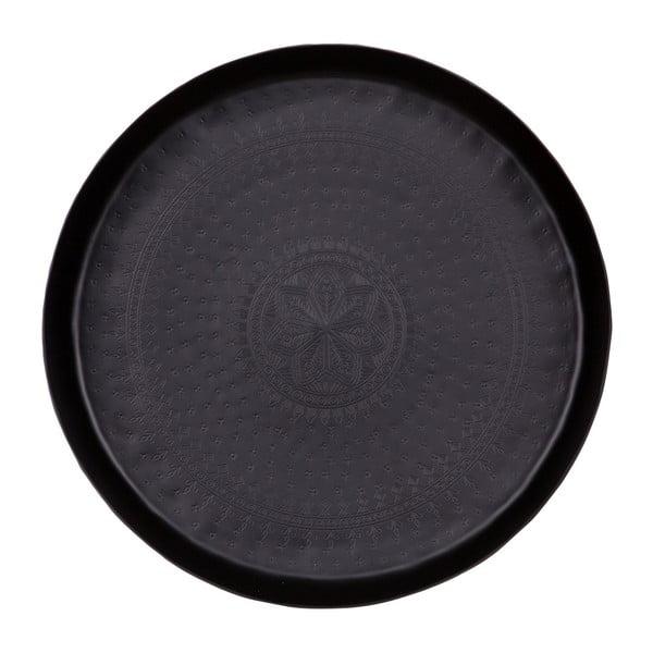 Čierny dekoratívny podnos BePureHome Waitress, Ø 44 cm