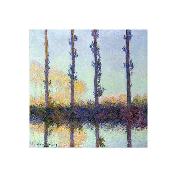 Obraz Claude Monet - The Four Trees, 60x60 cm