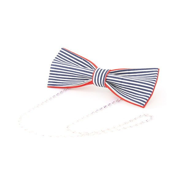 Dámsky motýlik na retiazke Stripes