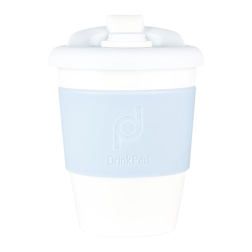 Svetlomodrý cestovný hrnček na kávu Drink Pod Kofein, 340 ml
