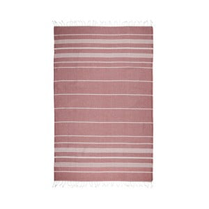 Tmavočervená hammam osuška Kate Louise Classic, 180x100cm