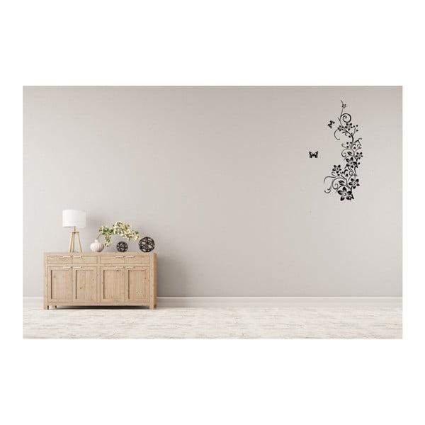 Dekoratívna samolepka Kvety s motýľmi, 150x90 cm