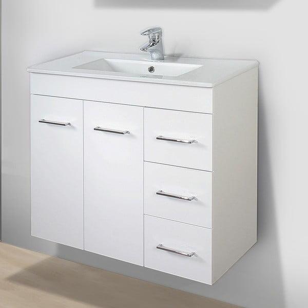 Kúpeľňová skrinka s umývadlom a zrkadlom Byron, 70 cm