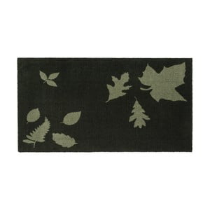 Tmavozelená rohožka Tica Copenhagen Mega Leafes, 67 x 120 cm