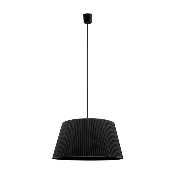 Čierne závesné svietidlo Sotto Luce KAMI, Ø 45 cm