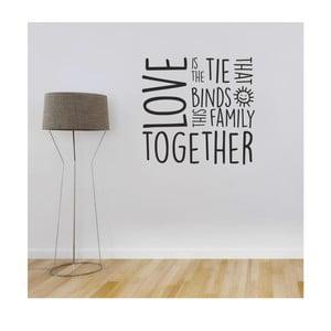 Samolepka na stenu Family love