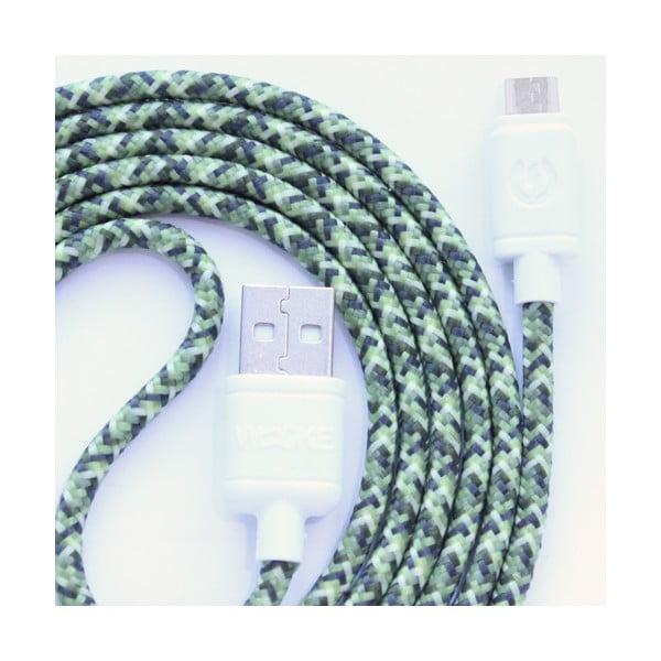 Nabíjací kábel Micro USB Wooky Green Camo, 1,5 m