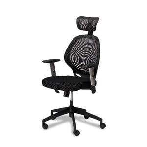 Čierna kancelárska stolička Furnhouse Maze