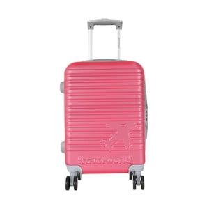 Ružová palubná batožina na kolieskách Travel World Aiport, 44 l