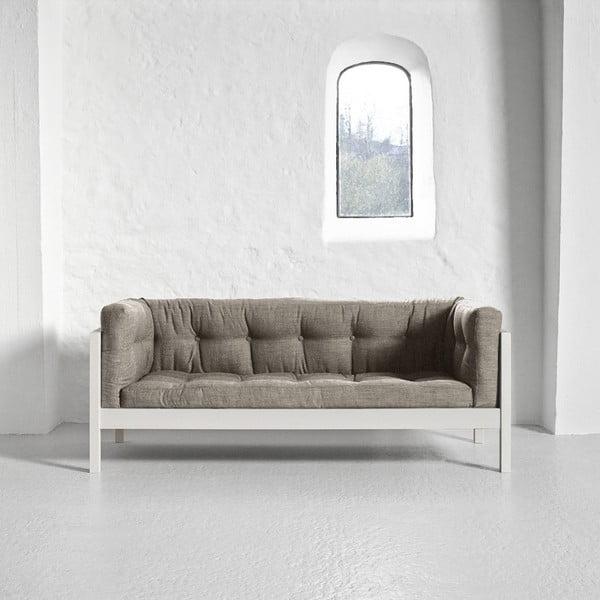 Pohovka pre dvoch Karup Fusion White/Linoso Light Gray