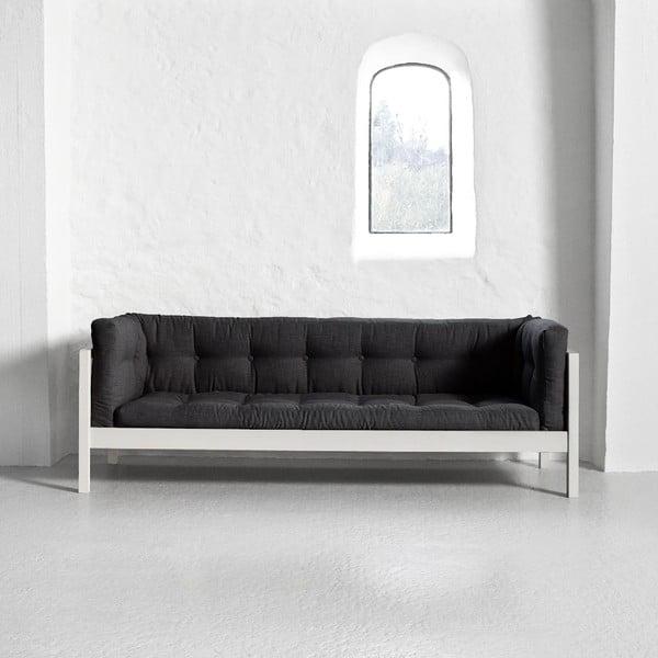 Trojmiestna pohovka Karup Fusion White/Linoso Dark Gray