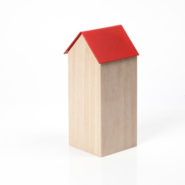 Červený úložný box House Large
