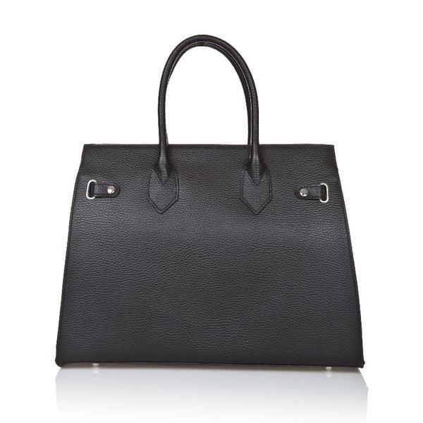 Čierna kožená kabelka Giorgio Costa Perugia