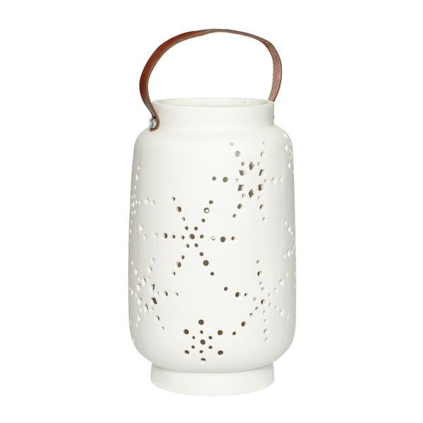 Biely porcelánový lampáš Hübsch Deb