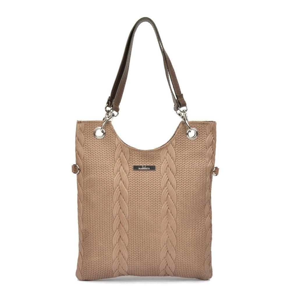 Béžová kožená kabelka Mangotti Casmina