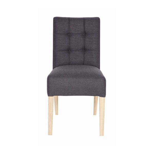 Sada 2 drevených stoličiek Tijmen Anthracite Oak