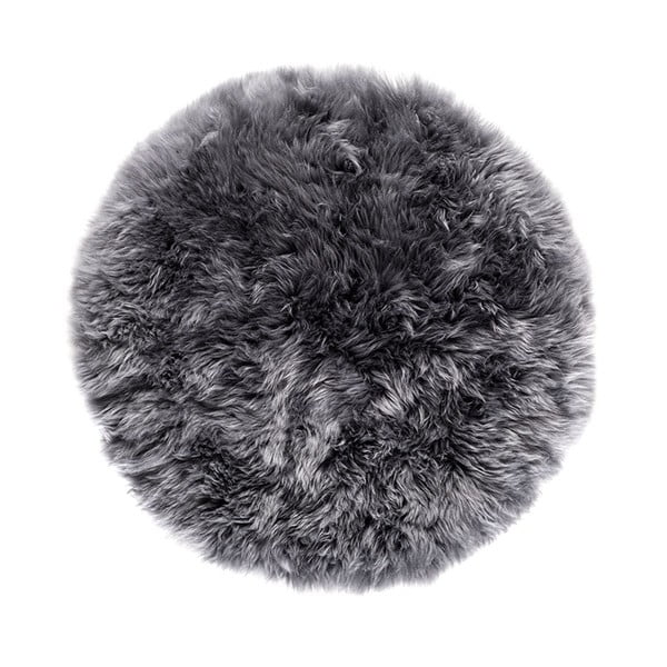 Sivý okrúhly koberec Royal Dream Zealand