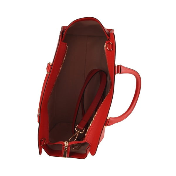 Kožená kabelka Emilio Masi Harbour, červená