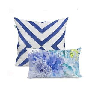 Sada 2 bavlnených obliečok na vankúš HF Living Blue Dream