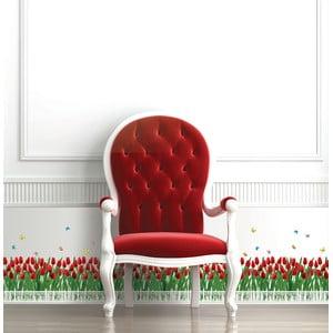Samolepka Ambiance Tulips Fence